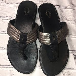 Olukai Women's Mahina Sandals - Steel/Black
